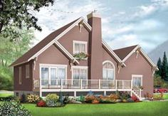 Elevation of Coastal   Country   House Plan 76238