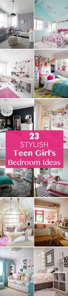 Transform your girl's bedroom into a space that reflects her unique teen style with these 23 stylish teen girl's bedroom ideas