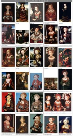 1530s (leeway +/- 5 years) geographical region comparison by date: Saxony, Dresden, artist Lucas Cranach the Elder