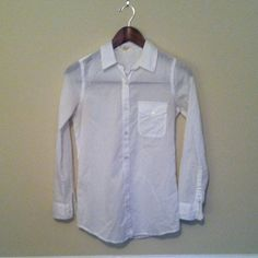 Classic White Button Down White button down shirt from F21. Worn only once. A little bit sheer. Forever 21 Tops Button Down Shirts