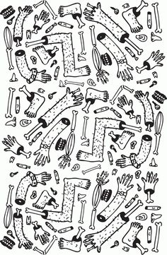 Sticks & stones plus broken bones by Dylan Mackay, via Behance