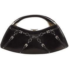 Pre-owned Dior Patent Leather Handbag ($335) ❤ liked on Polyvore featuring bags, handbags, black, patent handbags, pre owned purses, patent bag, christian dior purses and handbags bags