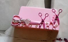 HairStylist Business Card Holder/Pink Is The by TheBohemianGypsy