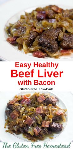 Click pin for tips to make delicious liver   Liver with bacon and onions   gluten free recipe   paleo recipe   low-carb
