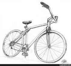 Bisiklet | Can Vancı// Karakalem Çalışmaları, Ürün Tasarım Portfolyo