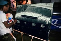 Damn good artist !!! Wish I had someone to paint a picture of my 2012 Mustang that damn good !!!!!