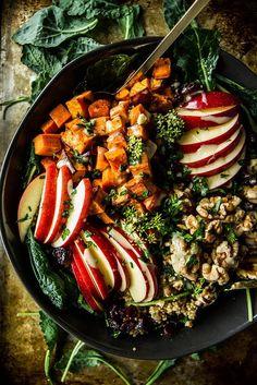 Spiced Apple Cider and Sweet Potato Quinoa Bowl | HeatherChristo.com | #recipe #Healthy @xhealthyrecipex |