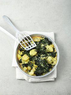 Grünkohl-Kartoffel-Frittata Rezept - [ESSEN UND TRINKEN]