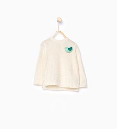 Image 1 of Knit sweater with appliqué detail from Zara