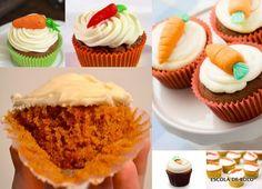 Cupcake de cenoura e mel