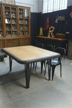 Riveted industrial table 1900