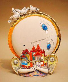 adelaparvu.com despre obiecte de arta din ceramica, ceramica pictata, ingeri din ceramica, artist Aram Hunanyan (23)