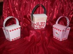 Print these free printable Valentines Paper Craft Candy Treat Boxes Templates