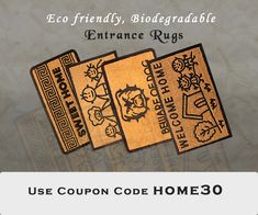 Our broad selection of floor mats, entrance mats, door mats, and door rugs will ensure your floors remain safe, dry and stylish! Entrance Mats, Door Rugs, Entryway Rug, Natural Rug, Floor Mats, Biodegradable Products, Floors, Stylish, Home Decor