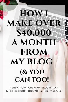 Make money from blogging - even if you are a beginner. Click here to learn the exact framework I used to turn my hobby blog into a thriving multi 6-figure business in less than 2 years. If you want to do the same, this is EVERYTHING you need!