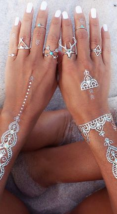 Sterling pretties & silver flash tatts.