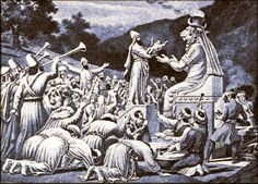 Depiction of a Punic child sacrifice