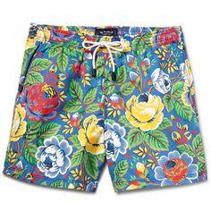 EtroFloral-Print Mid-Length Swim Shorts