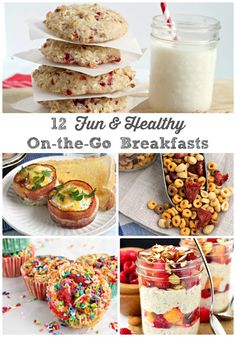 These 12 Fun & Healthy On-the-Go Breakfast Ideas are perfect for back to school & busy mornings.