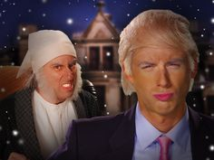 Epic Rap Battles of History - Season 3 episode 5 - Donald Trump vs Ebenezer Scrooge.   Here's one for Christmas xD thought it was good.