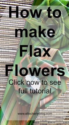 Full step by step instructions on how to make flax flowers. Click to see more. Visit www.ellecherieblog.com