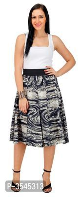 Women Crepe Printed Midi Length Skirt Within the last few 30 years, the evolution of Midi Length Skirts, Midi Skirt, Ethnic Gown, Western Wear For Women, Formal Shirts, Fashion Gallery, Jumpsuit Dress, Green Cotton, Short Skirts