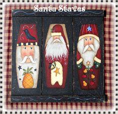 E PATTERN  Santa Staves  3 new Santa designs for 2012  by Sharon Bond, $5.00
