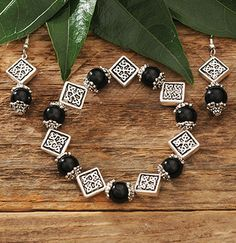 Black Celtic Earrings at Creative Irish Gifts.