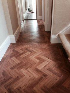 Tiled Hallway, Hallway Flooring, Parquet Flooring, Wooden Flooring, Hardwood Floors, Cellar Conversion, Amtico Signature, Blue Pallets, English Interior