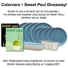 Enter to win this 16 piece set of Colorvara & the Spring & Summer issues of Sweet Paul. http://gvwy.io/by63y1d