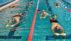Schneller schwimmen: Klassische Beinschlag-Übung: die Arme vorn ans Brett und nur die Beine bewegen