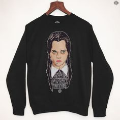 THE BEARHUG CO - Wednesday Addams - Black Sweatshirt