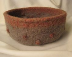 Beautiful Alpaca / wool Felted Bowl With Bobbles.  $60