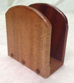Wooden Napkin Holder-- for CDs