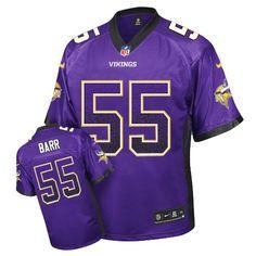 Nike Elite Anthony Barr Purple Men's Jersey - Minnesota Vikings #55 NFL Drift Fashion