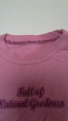NEW-girls-short-sleeved-t-shirt-3-4-yrs-Full-of-natural-goodness-glitter-logo