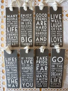 """shabby chic bookmarks (could use book marks for invitations indicating the next """"chapter"""" of life :) )"""
