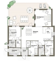 House Drawing, My Dream Home, Future House, Planer, Modern Farmhouse, Building A House, House Plans, New Homes, Villa