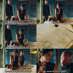 """#Shadowhunters 1x06 """"Of Men and Angels"""" - Izzy and her dad"""