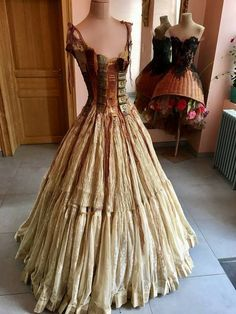 """Steampunk style 'book dress' by French designer Sylvie Facon Moda Steampunk, Style Steampunk, Steampunk Clothing, Steampunk Fashion, Steampunk Dress, Steampunk Book, Steampunk Wedding, Beautiful Outfits, Cool Outfits"
