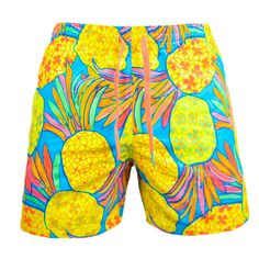 """In 1976 on the shores of Santa Cruz, there roamed a gang called the, """"Pineapple Hooligans."""" These are the epic shorts they inspired. Peep 'em here. Island Outfit, Mens Swim Shorts, Men's Shorts, Swag Outfits Men, Men's Swimsuits, Boyfriend Style, Man Swimming, Vacation Outfits, Modern Man"""