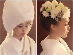 * * 白無垢 綿帽子 * * #マリhair #プレ花嫁 #ウェディング #浜松市