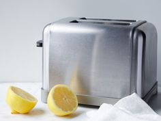 Polish Stainless Steel : To remove greasy grime, streaks and fingerprints from stainless appliances, cut a lemon in half, rub it onto the surface, and wipe with a clean towel (you can also use this trick on chrome fixtures or utensils). Mix lemon juice with a little baking soda for even more grease-fighting power.