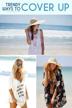 You found the perfect swimsuit. Now it's time to top it off with the perfect trendy coverup! See what is in style at the beach this season #summerfashion #swimsuitcoverups #beachdresses