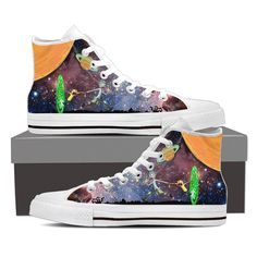 Rick And Morty Men's High Top Canvas White Shoes