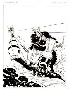 Castellini - Nathan Never 4  L'isola della morte  (1991) cover Comic Art