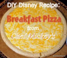 YUM! DIY Recipe for Walt Disney World Character Meal Breakfast Pizzas (Mickey not Included ;) )