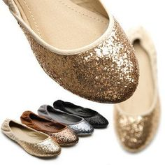 NEW Womens Shoes Ballet Flat Heels Loafers Glitter Multi Colored      Edit-icon-clear-x15    From shoecafe24 on eBay
