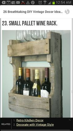 Small palate wine rack, but instead of wine, whiskey!!