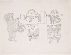 """Pitseolak Ashoona The Critic Canada (c. Graphite on paper National Gallery of Canada, Ottawa [Source] ""The Critic is an early example of Pitseolak's commentary on the art. Inuit Art, Canada, Critic, Make Art, Learn To Draw, Art World, Online Art, Book Art, Gallery"